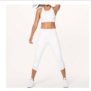NWT LULULEMON READYSETGO CROP LEGGING WHITE HUGG 4